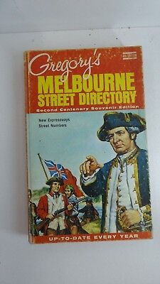 Vintage Gregory's Melbourne Street Directory Map Book 4Th Edition