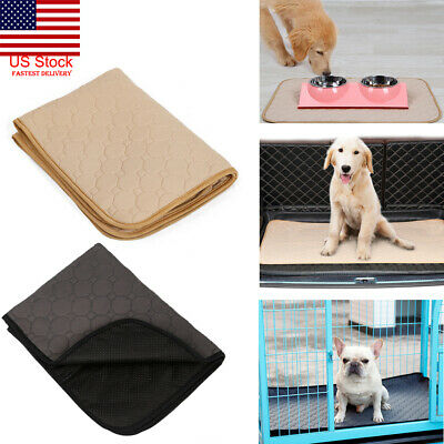 US 3 Size Washable Reusable Dog Puppy Pad Training Dog Diaper Urine Pads Pee Mat