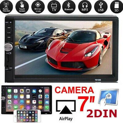 "2019 DOUBLE DIN 2DIN 7"" TOUCHSCREEN CAR DVD CD PLAYER BLUETOOTH Brand NEW AS"