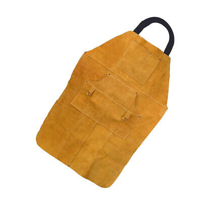 Welding Apron Soldering Protective Clothing Welding Bib with Pocket and Ties