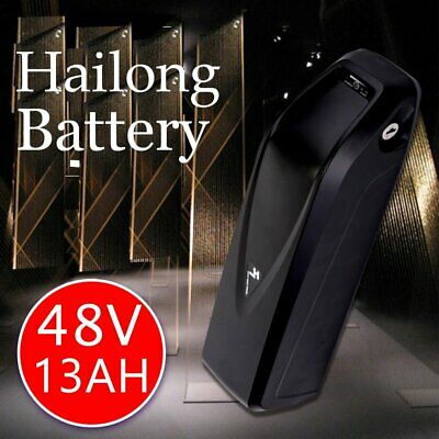 48V 13Ah lithium ion Hailong electrical ebike battery fits 624Wh motor+USB Port!