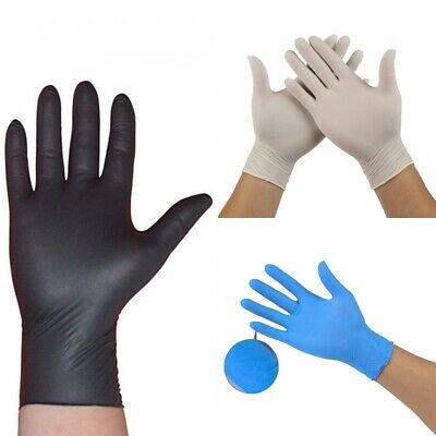 1/5/10 x Comfortable Rubber Disposable Mechanic Nitrile Gloves Medical Exam New