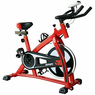 Stationary Indoor Cycling Fitness Bike for Cardio Workout & Gym Training -Red MY