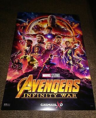 NEW Avengers Infinity War Original Cinemark Promo poster Style A 13 in x 19 in