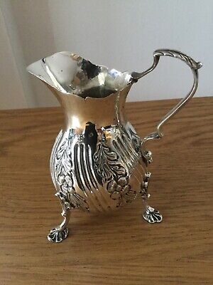 Antique Victorian Solid Silver Cream - Milk Jug London 1889