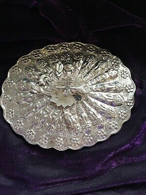Antique Silver Mirror Turkish Ottoman Empire Repousse And Embossed Pre 1923