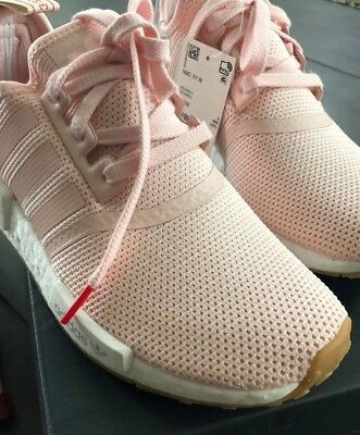 d8038cc6a3b Adidas NMD R1 W Women s Faded Pink White Running BB7588 Gym HTF Casual 6.5