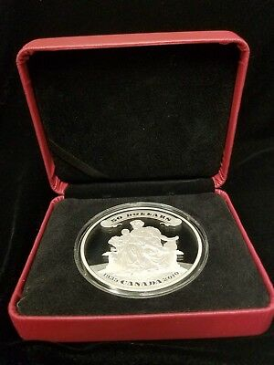 2010 $50 5 oz Canada silver proof coin 75th Anniversary of the First Banknotes