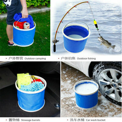 Multi-functional Foldable Bucket Camping Hiking Fishing Portable Camping Bucket