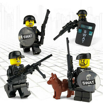 4pcs/set Military Special SWAT Police Building Block Figures Children Toys Gift