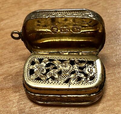 Antique Georgian Vinaigrette Birmingham Oval Sterling Silver Shaw