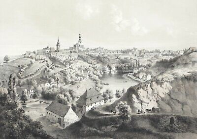 TABOR / TÁBOR - Ansicht - Tonlithographie um 1850