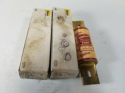 Buss JKS-175 Limitron Current-Limiting 175A Center Tag Fuse (Lot of 2)