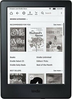 online store d5428 70ccc BUNDLE: AMAZON KINDLE Paperwhite (7th Gen) 4GB, Wi-Fi, 6in - Black and Hard  Case