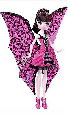 Authentic Monster High DNX65 Draculaura ghoul-to- BatTransformation 2 in 1 Doll