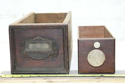 Antique Wood Drawer  Parts Box Vintage Primitive Wooden Sewing Machine Drawer