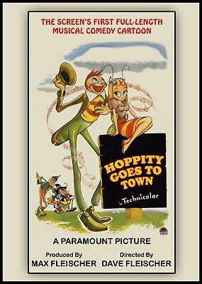 HOPPITY GOES TO TOWN - 1941 - Classic Animated Full-Length Film - NEW / SEALED