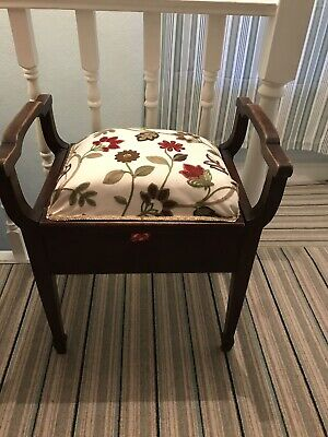 Antique Piano/ Sewing Stool.