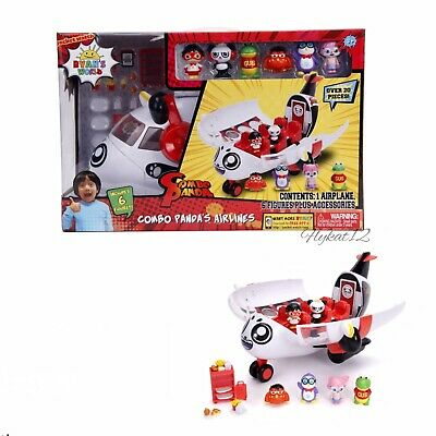 2019 Ryan's World Combo Panda Airlines Airplane and 6 Figures with Accessories