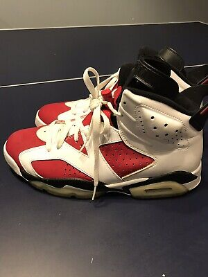 timeless design b503d 44522 2008 Air Jordan 6 Retro Carmine White CDP Countdown Pack VI Size 9.5
