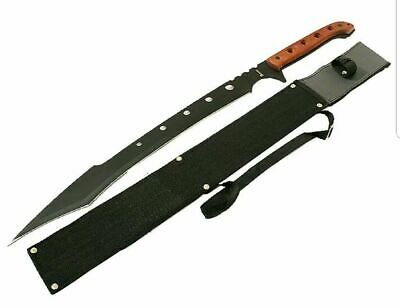 "26"" SURVIVAL HUNTING Tactical Full Tang FIXED BLADE MACHETE Knife Wood Sword"