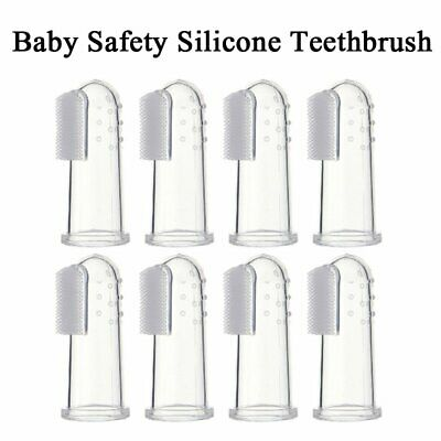 4/8PCs Baby Finer soft Silicone Toothbrush Teeth Gum Massager Infant  Teether UK