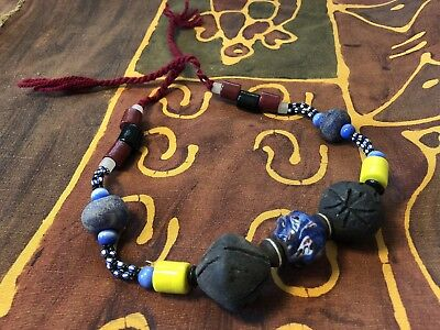 African Natural hand made Necklace Jewelry Eco Materials Tribal Nigerian