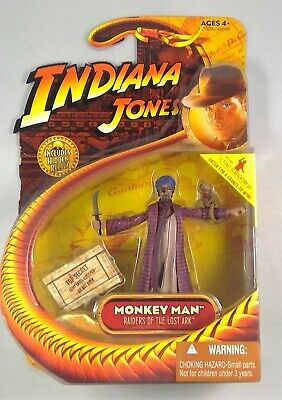 2008 Indiana Jones Monkey Man Raiders of the Lost Ark 3.75 inch MISB