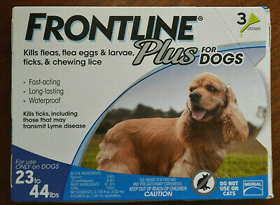 Frontline Plus for Dogs 23-44 lbs 3 Pack