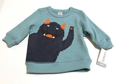 Carter's Baby Boy Monster Sweatshirt Pullover Sweater 9 Months Brand New Carters