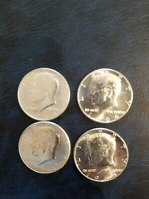 Lot of (4) 1964 SILVER Kennedy Half Dollars nr mnt cond.