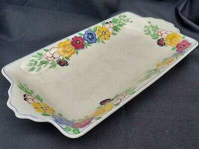 Crescent Ivory & Sons Pottery Square Porcelaine Hand Painted Dish
