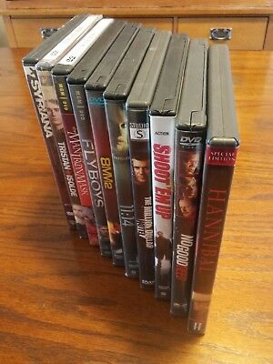 10 Dvd Movie Lot - Various Titles Like Hannibal & 8 Mm-2 & No Good Deeds & More