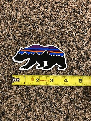 "118e96b1dd778 Patagonia Bear Sticker Decal Vinyl!!! Fitz Roy Approx 4"" Brand New Authentic"