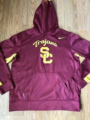 dc0d7149c USC TROJANS NIKE Fit Therma Sideline Hoodie Sweatshirt Men's Medium ...