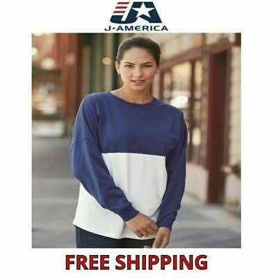 JAmerica Womens 100% Cotton Game Day Jersey Ladies L/S Tee XS-2XL J8229