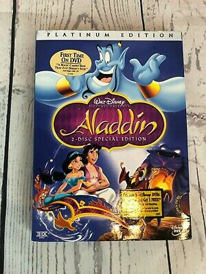 Aladdin DVD Original 2-Disc Set RARE w/Sleeve Sealed New Platinum Edition