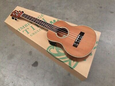 Tiki '7 Series' Cedar Solid Top Electric Tenor Ukulele - Seconds Stock