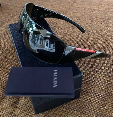 2ff0b7aec5 PRADA SPS 07H 1AB-1A1 Black Sport Sunglasses With Prada Box -  86.50 ...