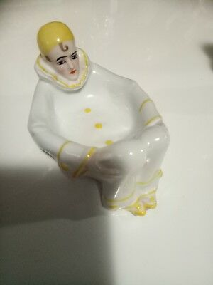 Antique Pierrot Trinket Dish German