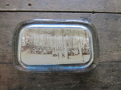 Antique Photo Glass Paperweight Tourist Gift from Advent Park Alton Bay NH USA