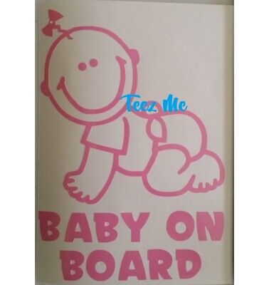 BABY ON BOARD, GIRL or BOY, Vinyl Decal Sticker SML