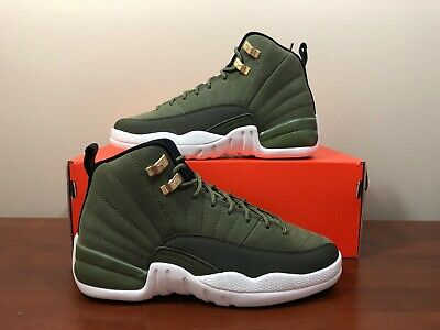 605c71c66c4570 Nike Air Jordan 12 Retro Chris Paul Class Of 2003 Olive Green Size 5Y 153265  301
