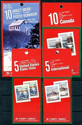 Weeda Canada BK106-109 VF set of 1989 Christmas booklet issues CV $142