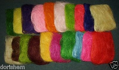 approx 40g bag Sisal Florist and all crafts decorative element. many colors!