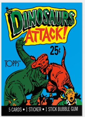 2018 Topps 80th Anniversary Wrapper Art Card #24 1988 Dinosaurs Attack! SP new