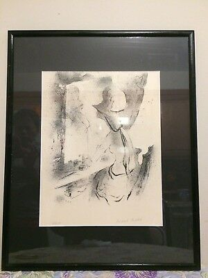 Original limited edition Lithograph art by Michael Biddle 50/250 , Signed 1965