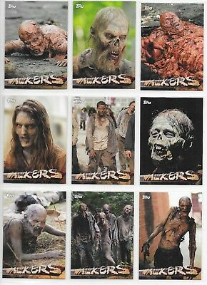 2016 TOPPS The Walking Dead Season 5 WALKERS 10 card Insert Chase Set W1-W10