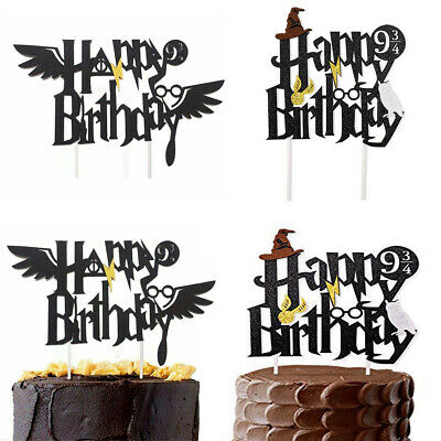 Harry Potter Happy Birthday Cake Topper Bunting Party Decoration Anniversary PM