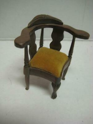 VINTAGE Sonia Messer QUEEN ANNE CHAIR 1:12 Dollhouse Miniature Made in Columbia
